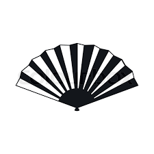 japanese folding fan japanese folding fan icon in simple style isolated on white