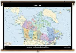 The United States And Canada Political Map by Klett Perthes Dual Sided Political Map Of Canada U0026 The World
