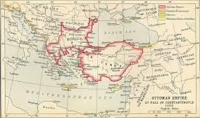 Ottoman Empire Capital Ottoman Empire At Fall Of Constantinople 1453 Size