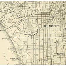 Street Map Of Los Angeles by Vintage Los Angeles Map Indiana Map