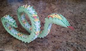 Origami Snake - 3d origami snake akvees