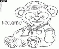 teddy bear duffy coloring printable game