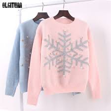 snowflake sweater sweaters knitted pullover snowflake sweaters
