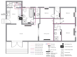 house plan layout plumbing and piping plans solution conceptdraw