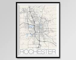 rochester mn map rochester map etsy