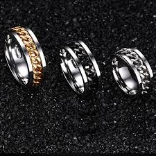 titanium chain rings images Men 39 s rings florence scovel jewelry png