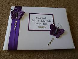 purple wedding guest book wedding guest book cadbury purple personalised 56 pages lots of
