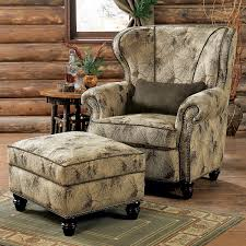 Overstuffed Armchair Rustic Chairs U0026 Old Hickory Ottomans
