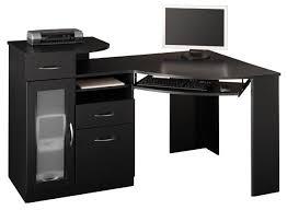 Modern Black Computer Desk Collection In Black Computer Desk Black Computer Desks 17