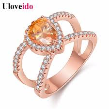 big fashion rings images 5 off uloveido pink rose gold color ring with stone big fashion jpg