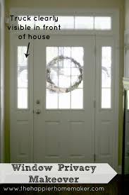 Patio Doors With Side Windows Faux Frosted Windows The Happier Homemaker