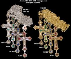 pectoral crosses bishop s pectoral cross with chain with resin decorations