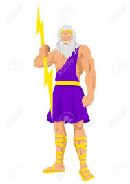 illustration of zeus the father of gods and men royalty free
