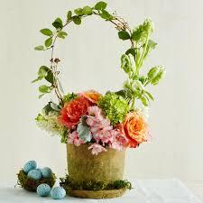basket arrangements easy flower arrangements southern living