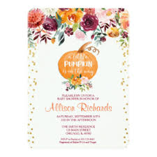 pumpkin baby shower invitations u0026 announcements zazzle
