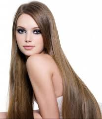 long straight hair with chestnut color blending with your hair