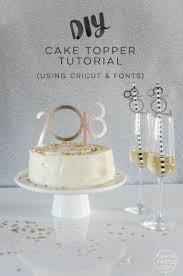 m cake topper diy nye cake topper with fonts cricut lemon thistle
