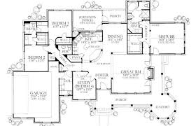 house plans with wrap around porch modern house plans plan with porches rectangular 4 bedroom 3