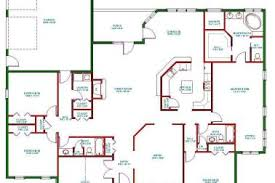 Single Story Four Bedroom House Plans 12 5bd Single Story Open Floor Plans Single Story Open Floor