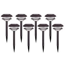 portfolio solar path lights portfolio 8 pack rust solar powered led path lights products i