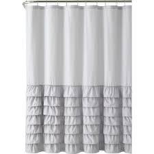 Black Grey And White Shower Curtain Modern Gray U0026 Silver Shower Curtains Allmodern