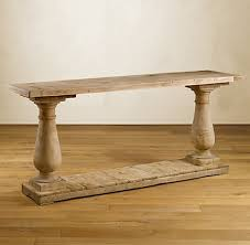 salvaged wood console table balustrade salvaged wood console table renascent furnishings