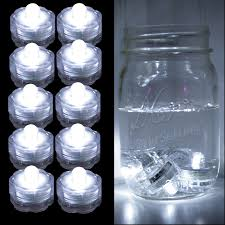 submersible led tea lights submersible led lights white 10 piece