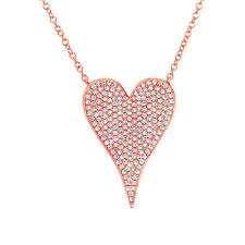 heart necklace with diamonds images Rose gold diamond heart necklace michael anthony jewelers jpg