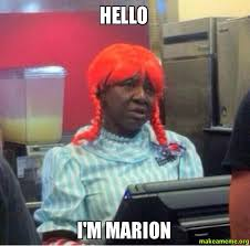 hello i m marion make a meme