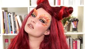 pink wig spirit halloween poison ivy halloween makeup u0026 hair tutorial youtube