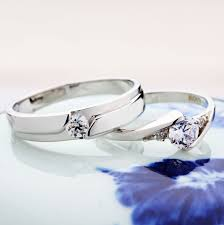 his u0026 hers matching couple cz sterling rings wedding band