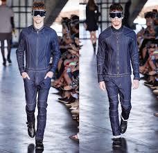 denim jumpsuit mens herchcovitch 2014 winter mens runway denim fashion week