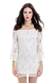 lace dresses lace dresses white m mini shoulder lace tight club dress