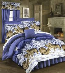 Twin Size Bed In A Bag Rustic Lodge Wild Wolf Wolves Cabin Twin Size Bed Comforter Set On