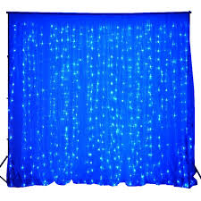 wedding backdrop blue 600 sequential blue led lights organza curtain backdrop 20ft x