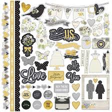 wedding scrapbook stickers simple stories the story of us fundamentals stickers