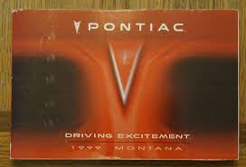 1999 pontiac montana owners manual book u2022 7 47 picclick