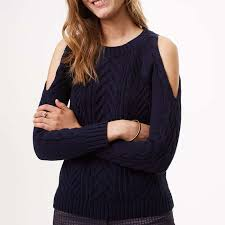 cold shoulder sweaters loft cold shoulder cable sweater rank style