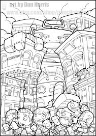 robot destroyer colouring page colouring book page