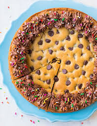 chocolate chip cookie cake with chocolate fudge frosting