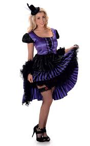 Dancer Halloween Costume Women U0027s Purple Saloon Costume Saloon Wild West Costume