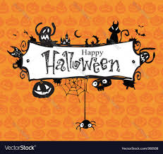 Halloween Graphic Design by Halloween Frame Royalty Free Vector Image Vectorstock