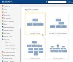 make organizational charts in powerpoint with templates from smartdraw
