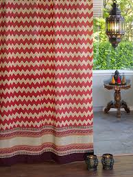 Orange Panel Curtains Red Orange Sheer Curtain Panel Tribal Zig Zag Curtain Panel