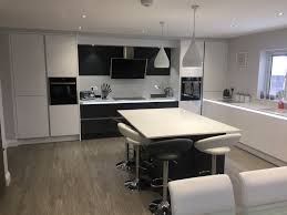 tomba white gloss and graphite kitchen aston hertfordshire