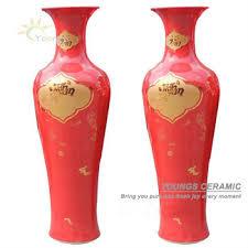 large china red porcelain floor vase for indoor home decorr home