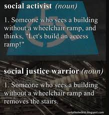 Social Justice Warrior Meme - social activist vs social justice warrior brilliantly defined meme