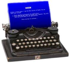 Typewriter Meme - image 18819 blue screen of death bsod know your meme