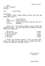 contoh surat lamaran kerja dengan cq contoh surat permohonan pindah kerja pegawai negeri sipil terbaru resmi