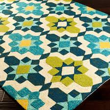 Teal Outdoor Rug Vera Indoor Outdoor Rug Teal Lime